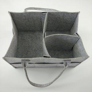 Other - Grey Diaper Caddy organizer 13X9X7